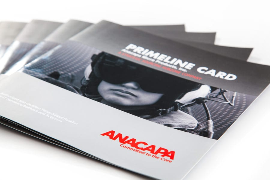Anacapa printed brochure with softtouch paper