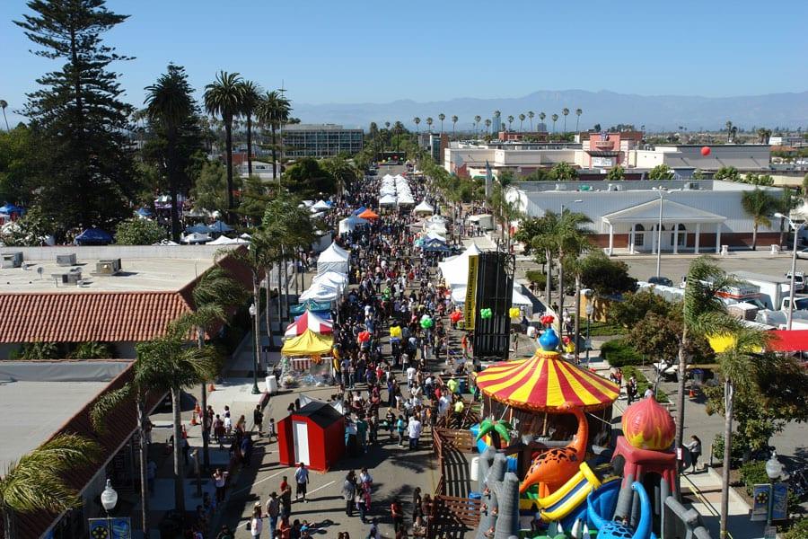 Oxnard Salsa Festival Aerial View