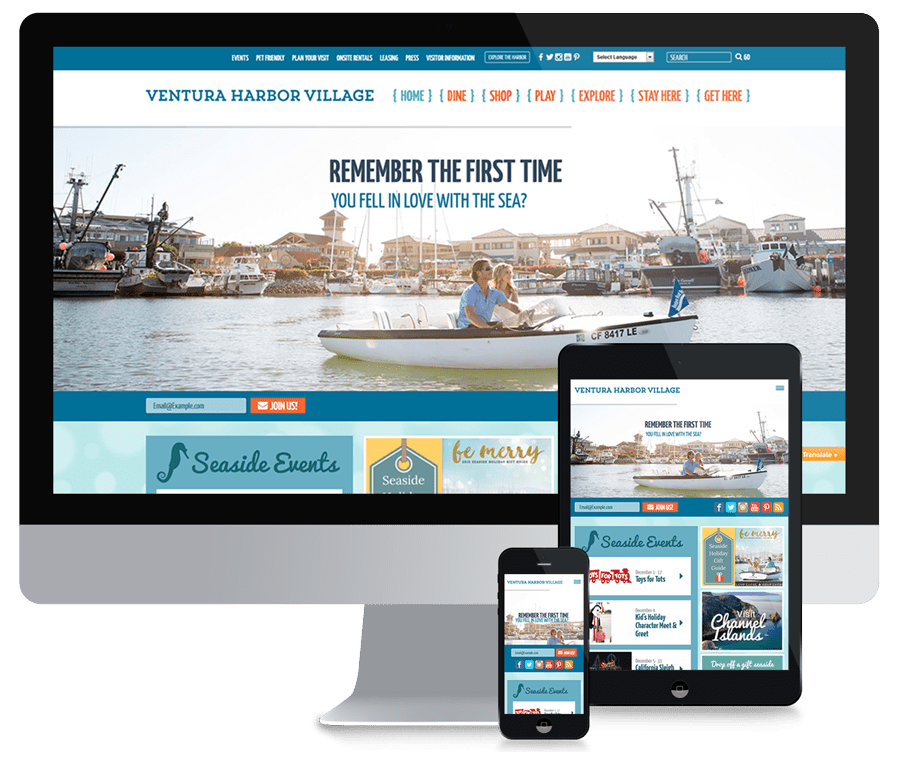Ventura Harbor Responsive Website