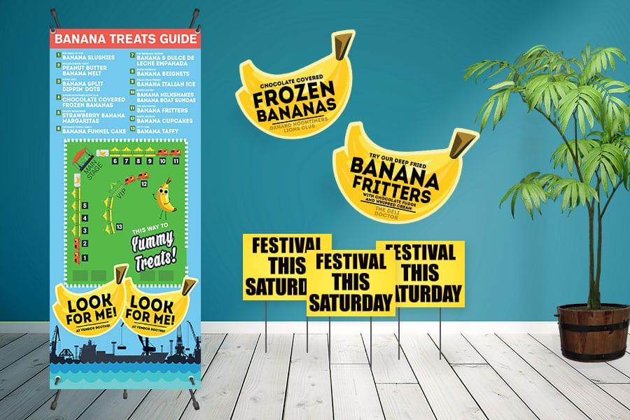Banana Festival Signs
