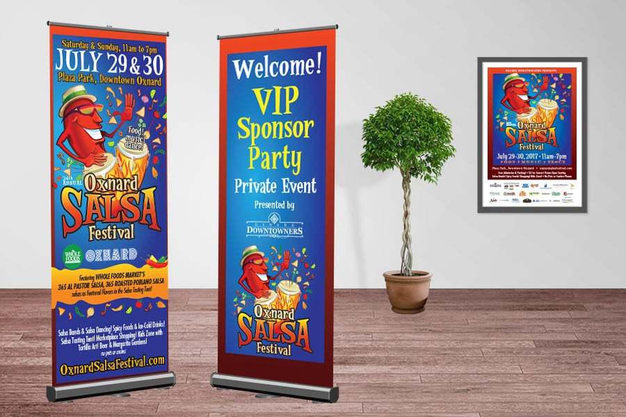Oxnard Salsa Festival Banners