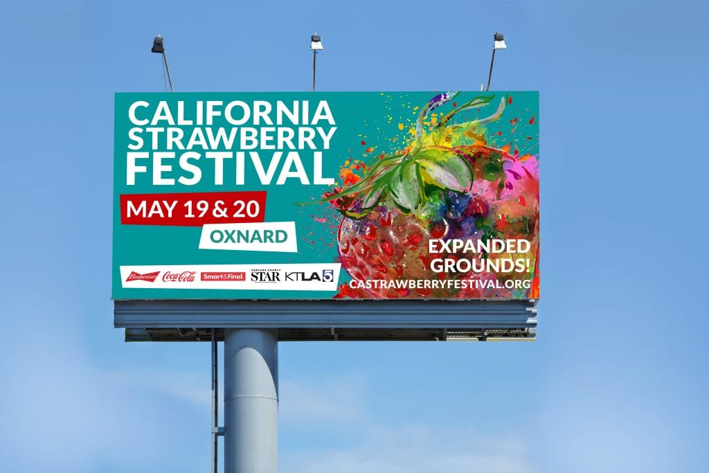 California Strawberry Festival Billboard