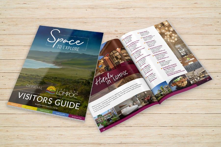 'Explore Lompoc' Visitors Guide Mockup