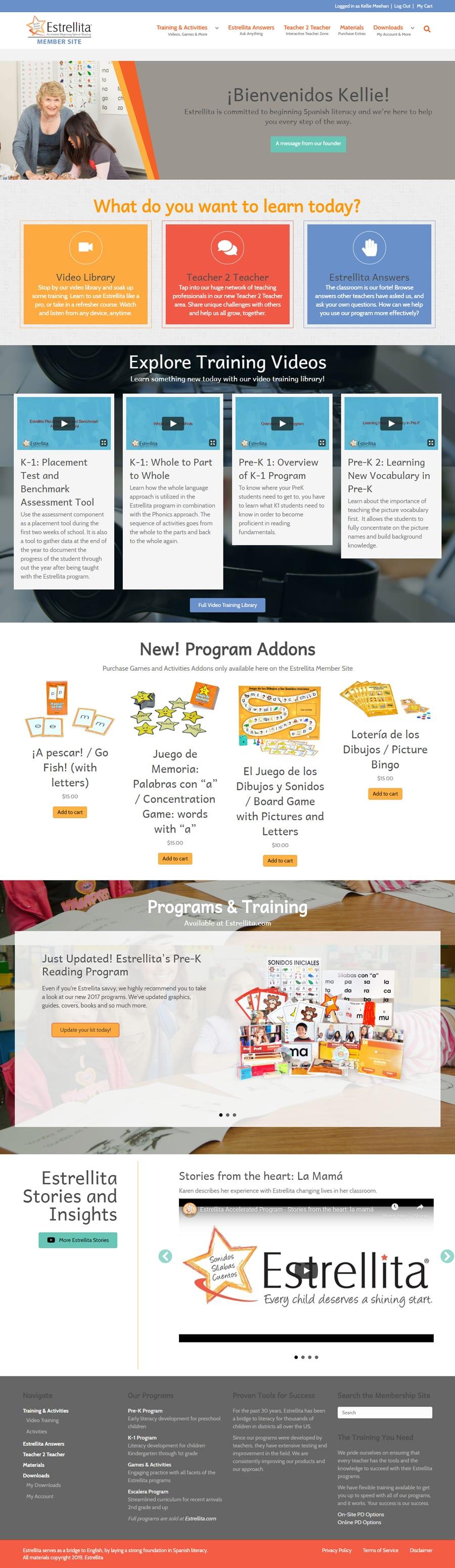 'Estrellita Teachers' Website Home Page
