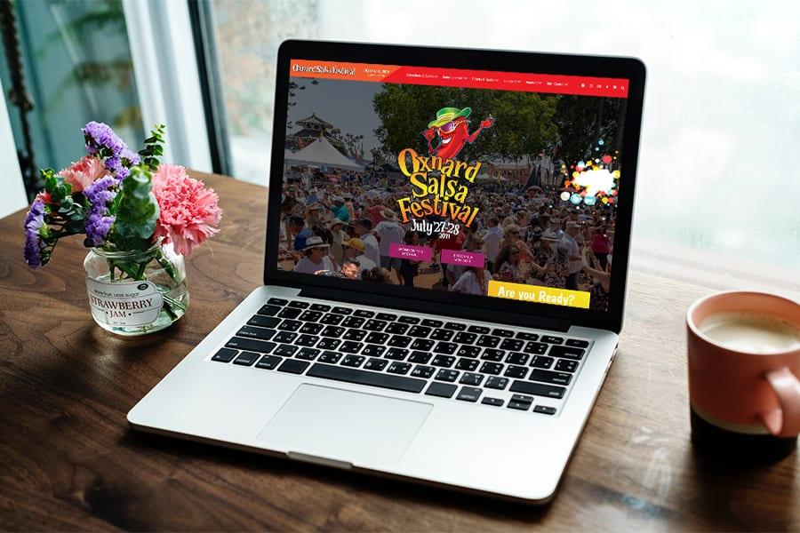 Salsa Festival Web Mockup