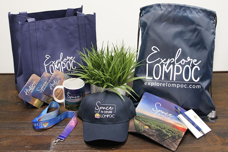 """Explore Lompoc' Promotional Products"