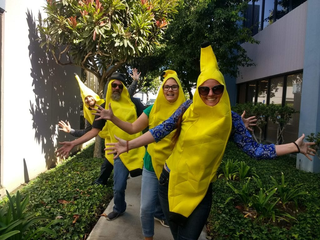 Josh, Joe, Kayla, Megan Bananas