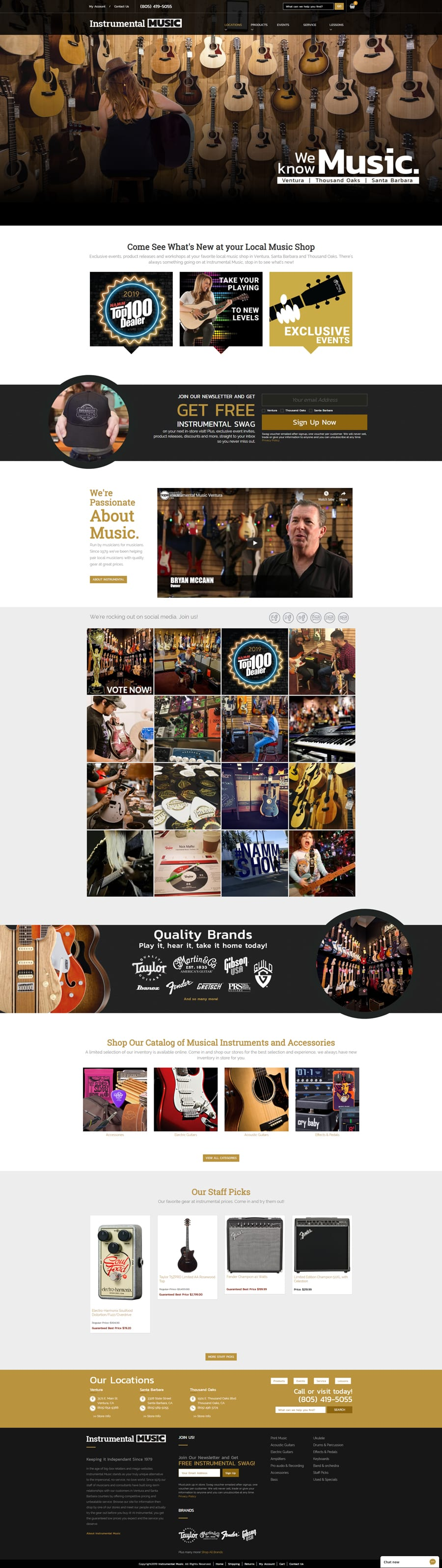 'Instrumental Music' Website Home Page