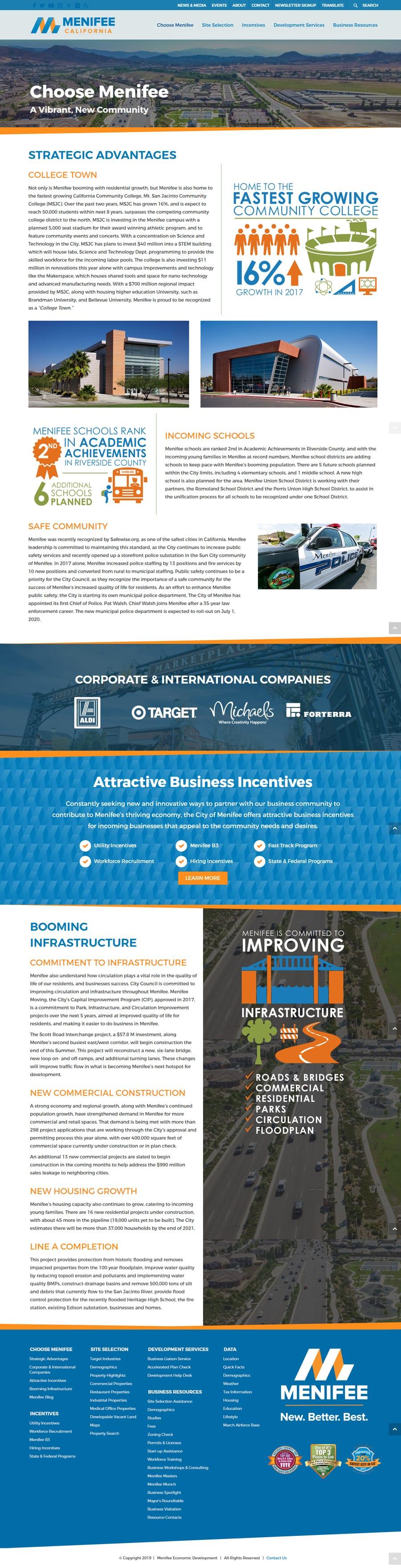 Economic Development Website Sample Design