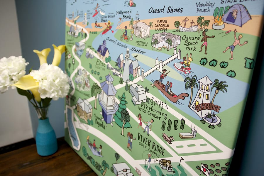 'Visit Oxnard' City Illustrative Map