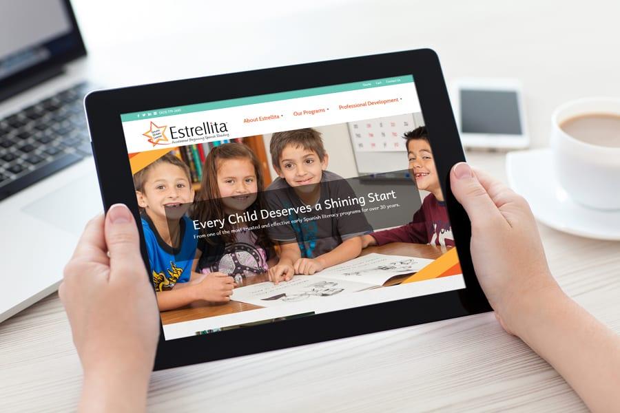 'Estrellita' iPad Website Mockup