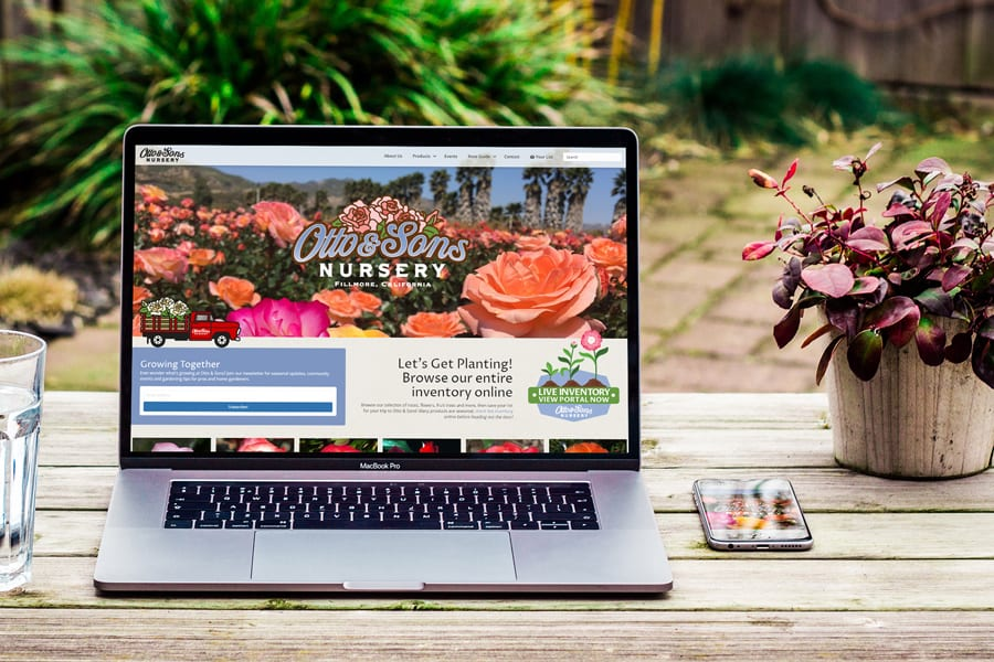 'Otto & Sons Nursery' Website Mockup