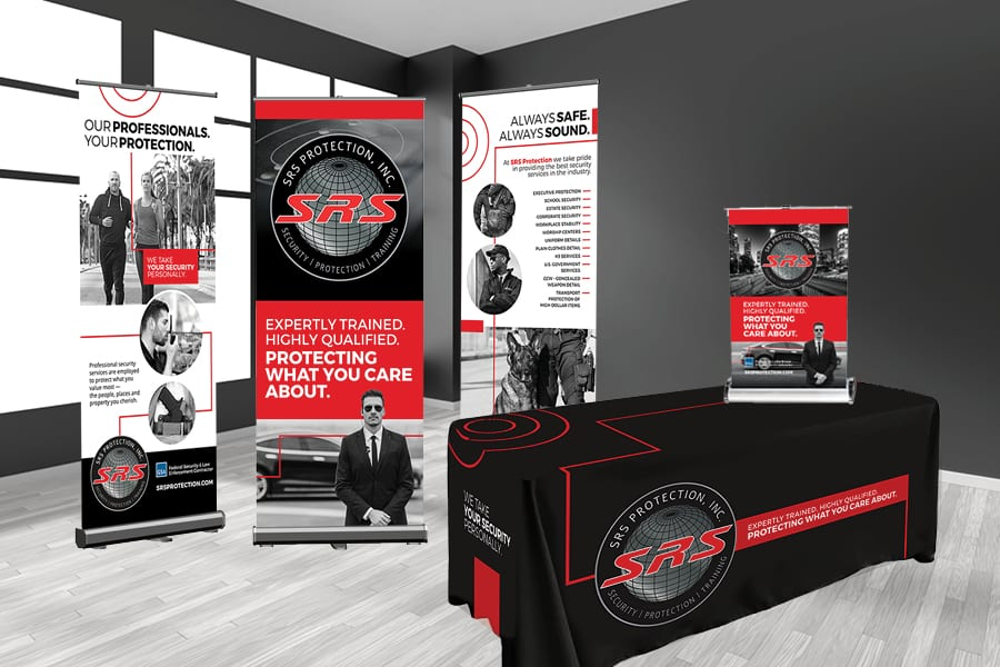 'SRS Protection' Tradeshow Graphics