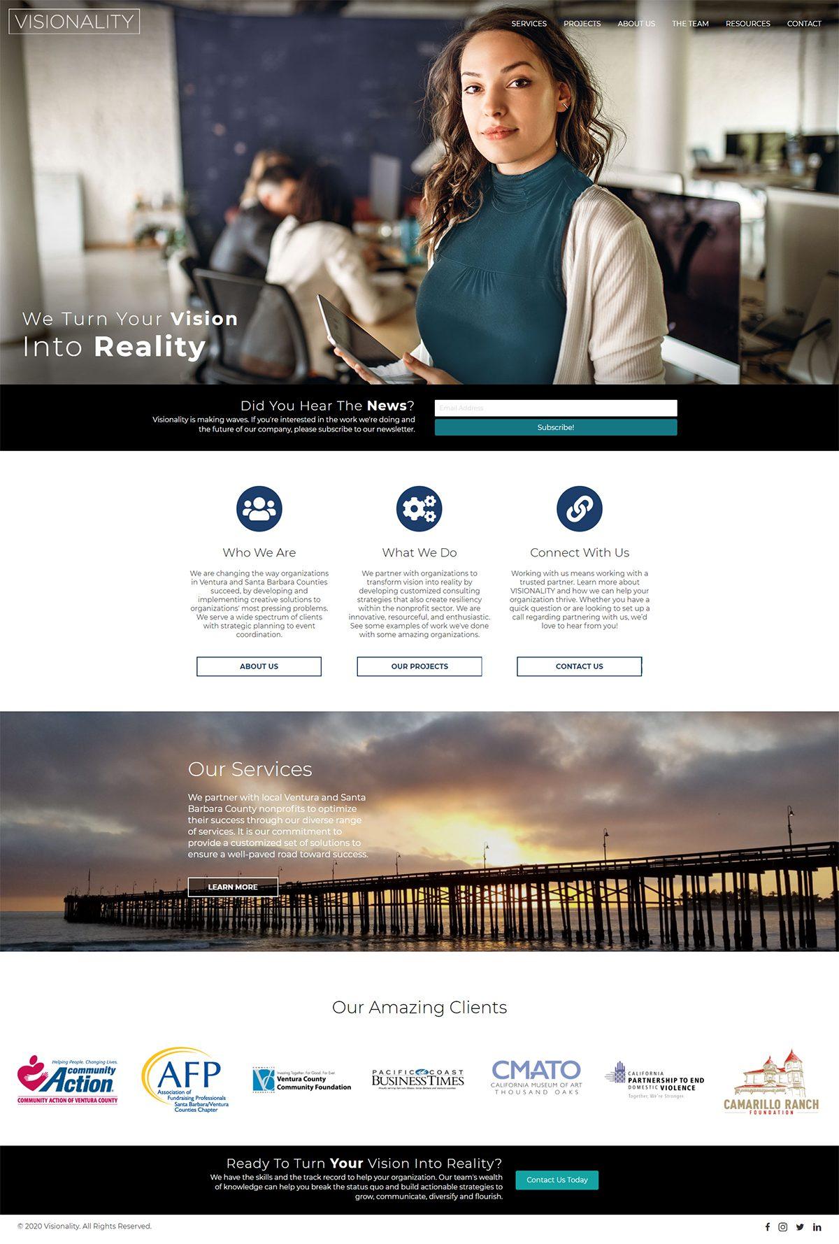 Fullpage screenshot of VisionalityPartners.com